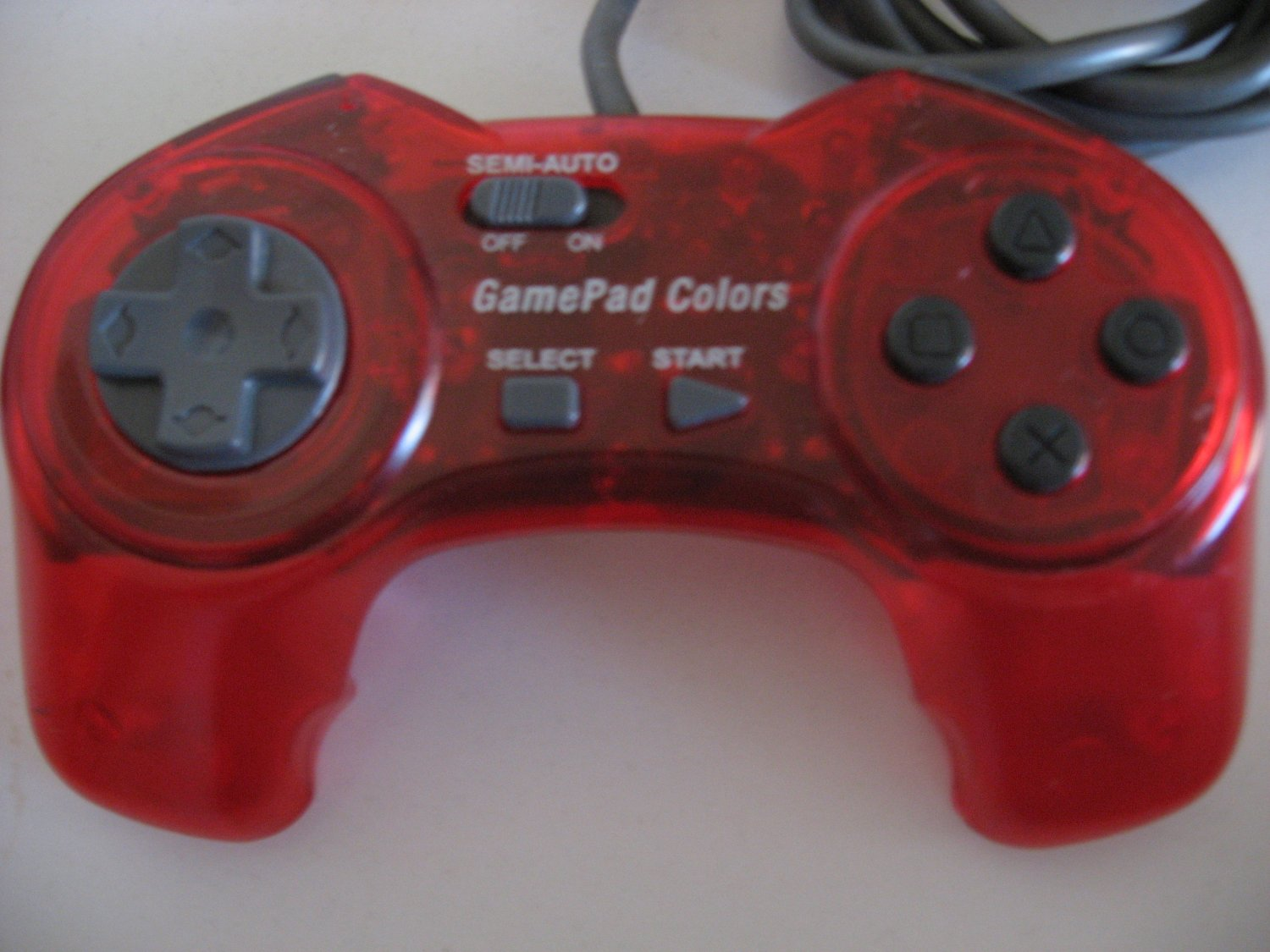 Gamepad Clear Red PlayStation Controller