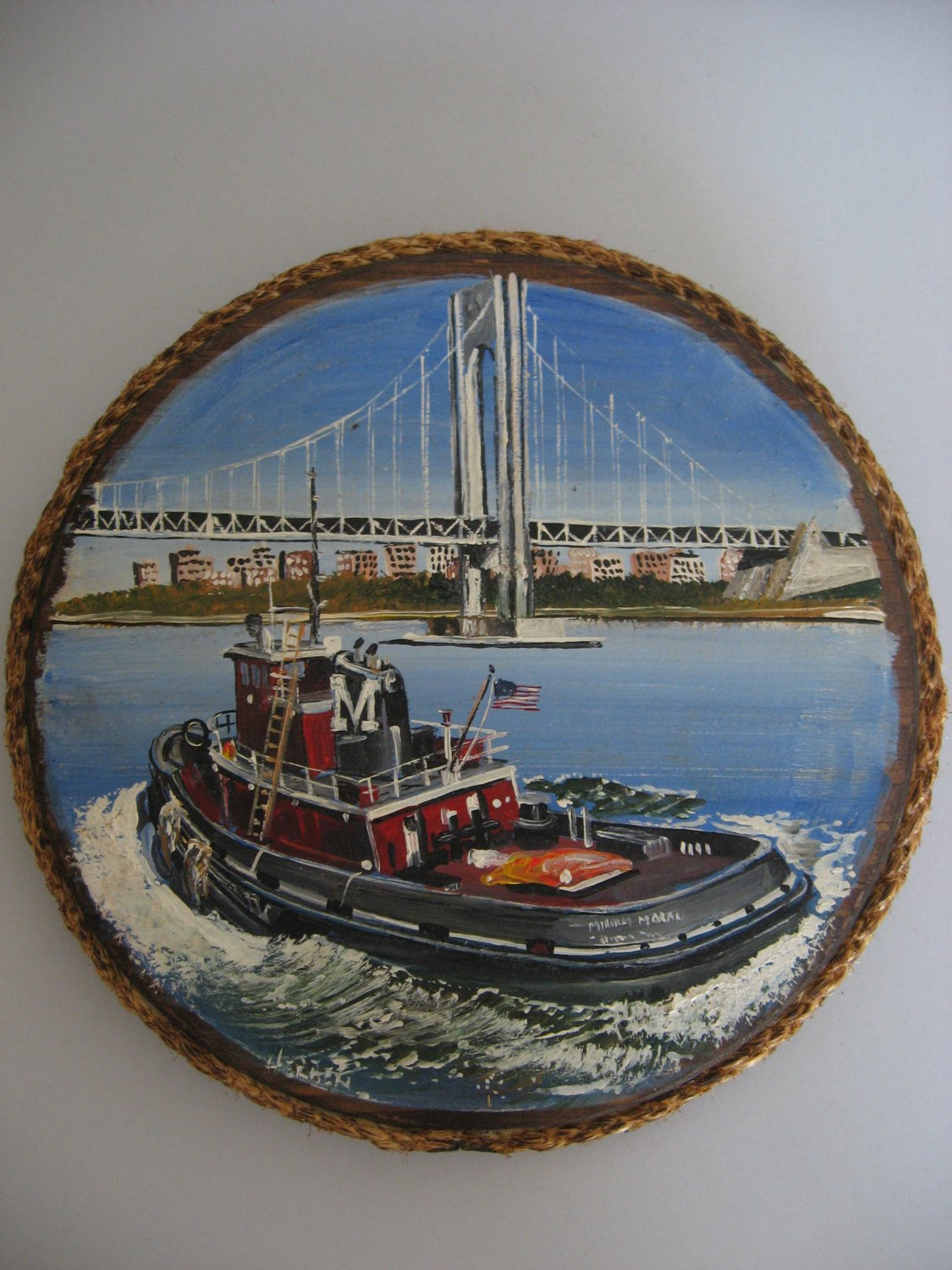 Tugboat Hand Painted Collectible