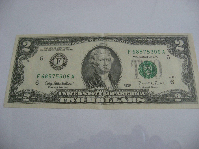 1995 - $2 Dollar Bill
