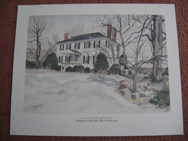 Vintage Print - Historic Weston Manor