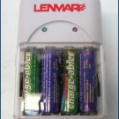 Lenmar Charge-ables Battery Charger + AA Batteries EV64