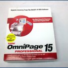 ScanSoft OmniPage Professional 15 E709A-F00-15.0