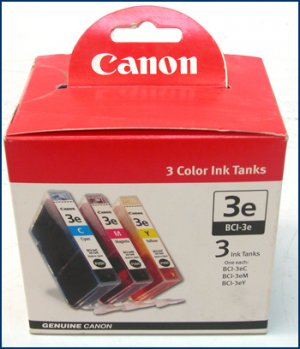 Canon BCI-3ECMY Photo Ink Cartridge 3PK 4480A263AA NEW