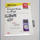Memorex Printable Wraps iPod NANO 32020429 NEW SEALED