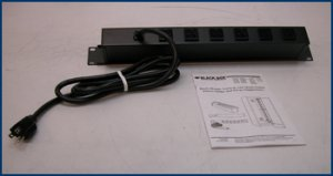 BlackBox Switchless Rack Mount Power Strip PS186A