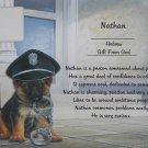 Name Poem Personalized Police Puppy Background paper Free Shipping