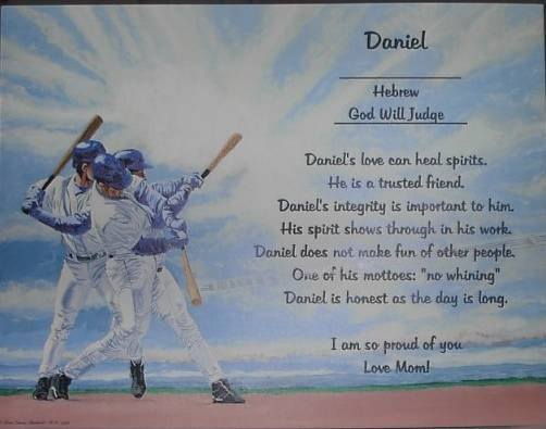 Name Poem Personalized Baseball background paper Free Shipping
