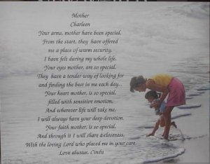 Mother Poem Personalized On Mom Daughter Background Paper