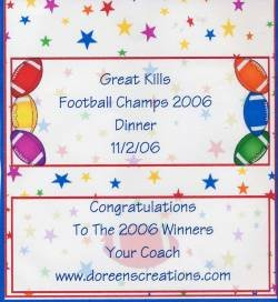 Football Personalized Birthday Hershey 1.55 oz Candy Wrapper Free Shipping