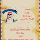 Pirate Personalized Birthday Hershey 1.55 oz Candy Wrappers Free Shipping