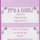 Girl Personalized Hersehy 1.55 oz Baby Shower Candy Wrapper Free Shipping