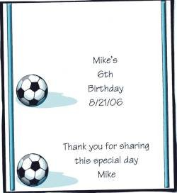 Soccer Personalized Hershey Candy Wrapper Free Shipping