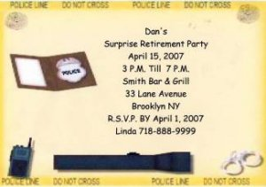 Police Retirement Personalized Invitation Free Shipping