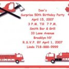 Fire Engine Birthday Personalized Invitation Free Shipping
