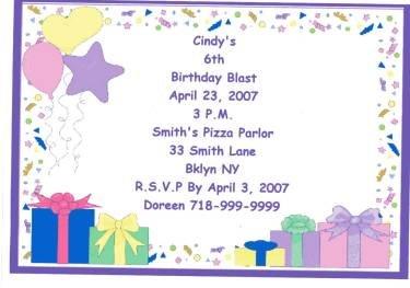 Celebration Party Invitation Personalized Free Shipping