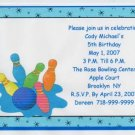 Bowling Party Invitation Free Shipping