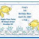 Gold Fish Invitation Personalized Free Shipping