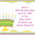 Birthday Cake  Invitation Personalized Free Shipping