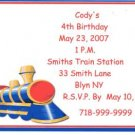 Train Party Invitation Personalized Free Shipping