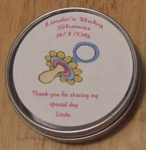 Personalized Pacifier Label & Tin Free Shipping