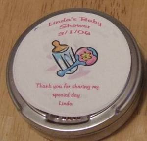 Personalized Bottle & Rattle Label & Tin Free Shipping