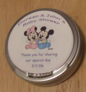 Personalized Mickey & Minnie Label & Tin Free Shipping