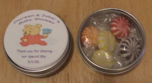 Personalized Pooh Label & Tin Free Shipping