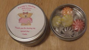 Girl Bear Personalized Label & Tin Free Shipping