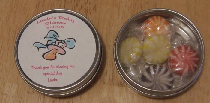 Pacifier Personalized Label & Tin Free Shipping