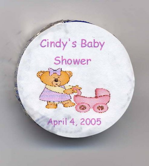 20 Baby Shower Personalized  Snack Size Peppermint Patties Labels Free Shipping