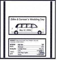 Wedding Limo Personailzed Hershey 1.55 oz Wrapper  FREE SHIPPING