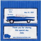 CHEVY BIRTHDAY PERSONALIZED HERSHEY 1.55 OZ WRAPPER FREE SHIPPING