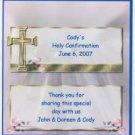 CHRISTENING PERSONALIZED HERSHEY 1.55 OZ WRAPPER FREE SHIPPING