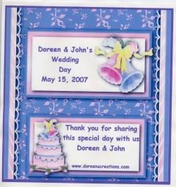 Wedding Personalized Hershey 1.55 oz Free Shipping
