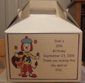 Birthday Gable Box Personalized Free Ship