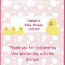 Ducks Girl Baby Shower Hershey 1.55 0z Free Shipping