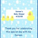 Ducks Boy Baby Shower Hershey 1.55 0z Free Shipping