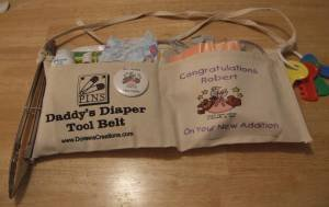 Personalized Daddy Diaper Tool Belt Free Shipping