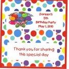 Clown  Birthday Hershey 1.55 0z free shipping