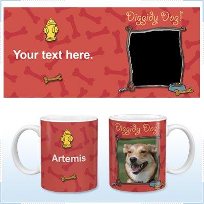 11oz White Ceramic Mug - Diggity Dog