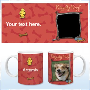 11oz White Ceramic Mug - Diggity Dog