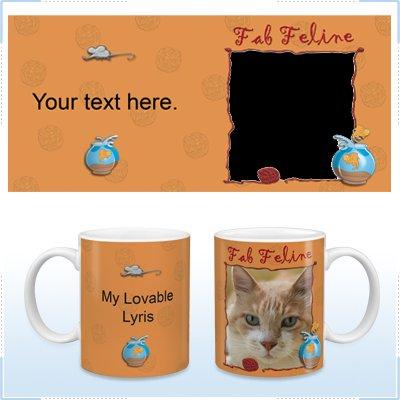 11oz White Ceramic Mug - Fab Feline
