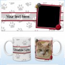 11oz White Ceramic Mug - Paw Prints Cat