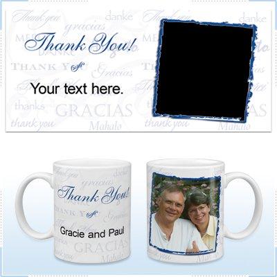 11oz White Ceramic Mug - Thank You