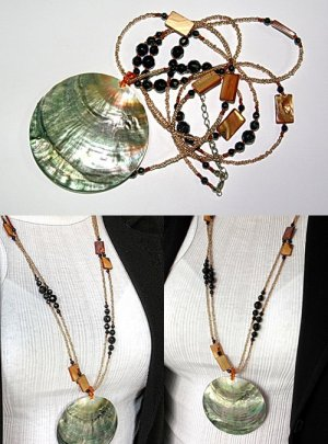 Mother of pearl bead necklace BN_M01