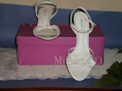 Michelle D White Poem105 Shoes Sandals 8.5 M 8 1/2  NEW