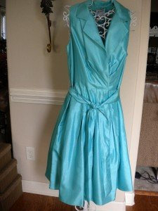 K Studio Turquoise Sleeveless Dress Size 12  $90.00 NEW