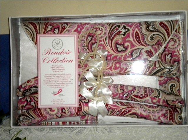 Boudoir Collection Satin Pillowcases Hangers Gift Set