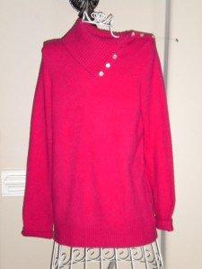 Gap Ladies Women Junior Fushia Sweater Top Size M