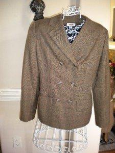 Talbots Plaid Women Ladies Blazer Jacket Coat Size 8